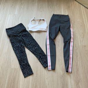 Sports Bra + TWO Pants Set